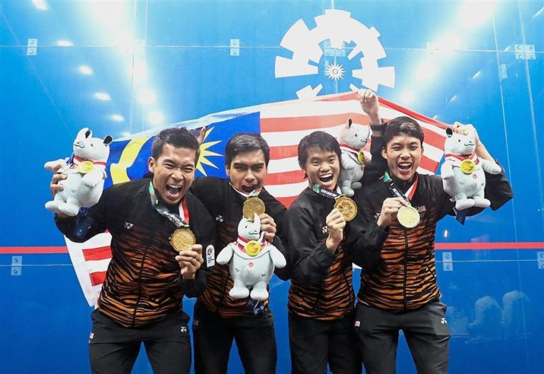 Malaysia meet seven-gold target – thanks to squash