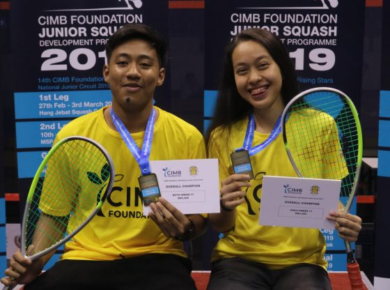 Amir and Ainaa claim U19 wins after hard fought displays