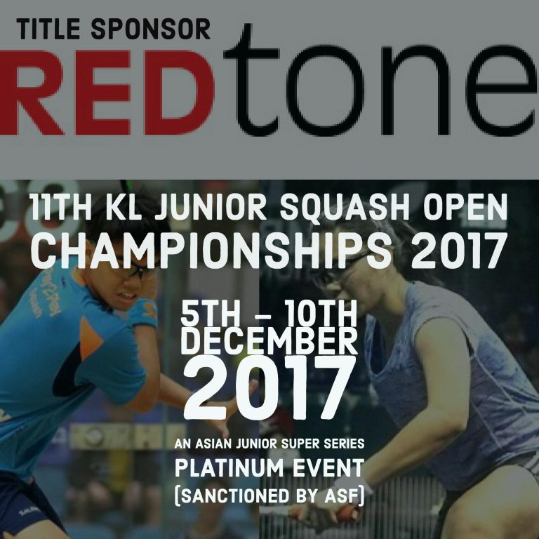 REDtone 11th KL Junior Open Squash Championships 2017