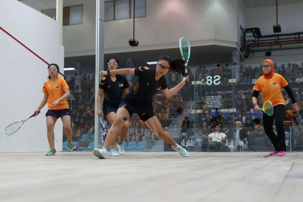 SEA Games: Squash delivers double double's gold