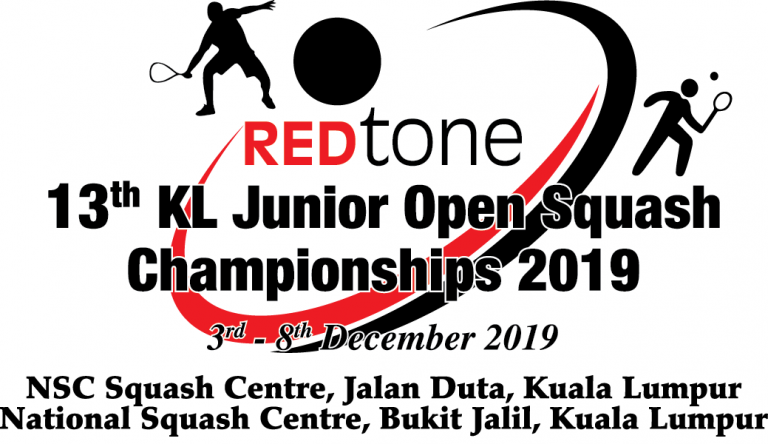 REDTONE 13th KL Junior Squash Open Championships 2019 General Details and Entry Form